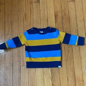Gap Heavy weight knit striped shirt 12-18 months